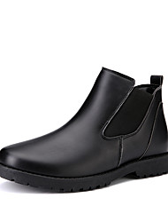 Men's Shoes Suede Leatherette Spring Fall Winter Comfort Fashion Boots Boots For Casual Outdoor Black Gray Brown Blue