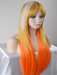 cheap -Women Synthetic Wig Capless Long Very Long Straight Golden Blonde Natural Wig Halloween Wig Carnival Wig Costume Wigs