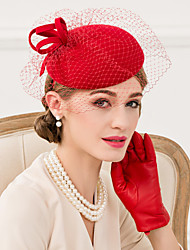 Women's Wool / Net Headpiece-Wedding / Special Occasion / Casual Fascinators / Hats 1 Piece