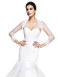 cheap -Tulle Wedding Party Evening Women's Wrap With Appliques Shrugs
