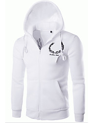 cheap -Men's Hoodie Jacket - Letter, Embroidered