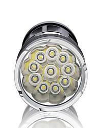 Lanternas LED LED 3000 Lumens 3 Modo Baterias não incluídas Impermeável Regulável Super Leve Alta Intensidade para Campismo / Escursão /