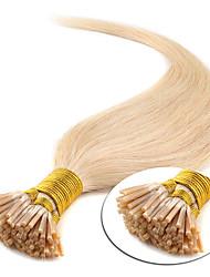baratos -Febay Queratina / Ponta I Extensões de cabelo humano Liso Cabelo Humano Ruivo Escuro Loiro Loiro claro
