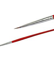 Nail Art Красный деревянной ручкой Картина кисти