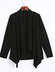 Women's Going out / Casual/Daily Simple / Street chic Irregular Spring / Fall JacketsSolid Cowl Long Sleeve