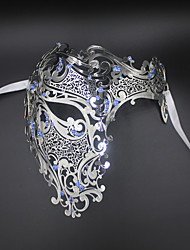 Signature Phantom Of The Opera Half Face Laser Cut  Mask Metal 5002C4