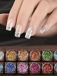12 Nagel-Kunst-Dekoration Strassperlen Make-up kosmetische Nail Art Design