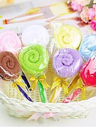 economico -tovagliolo creativo regalo di compleanno lecca-lecca in fibra di forma (colore casuale)