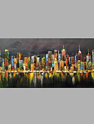 Dipinta a mano Astratto Dipinti ad olio,Modern Un Pannello Tela Hang-Dipinto ad olio For Decorazioni per la casa