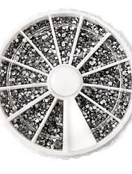 Серебряные акриловые для декора ногтей (3600 шт *2 мм)