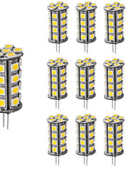 cheap -Diammable LED Bulb Lighting G4 30 LEDs 5050 12V DC Warm/Cool White for Chandelier Boat (10 Pieces)