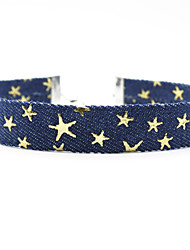 2cm width Star Blue Denim Necklace Non Stone Choker Necklaces Jewelry Women 1pc Gift Silver / Pool