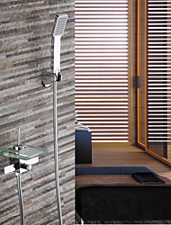 Modern Waterfall Widerspread Faucet With Hand Shower In-Wall Bathtub Faucet