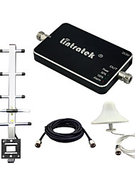 cheap -Lintratek® Repeater DCS 1800 Mini Size Signal Booster Signal GSM 1800 MHz 65dB Gain LED Cell Phone Repeater Yagi Antennas Full Kits