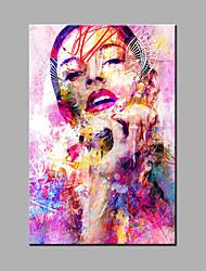 abordables -pintura al óleo abstracta / abstracta pintada a mano del retrato una pintura al óleo de la lona del panel