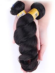 Menneskehår, Bølget Brasiliansk hår Løst, bølget hår 1 Stykke hår vævninger