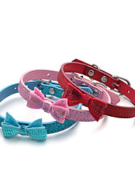 preiswerte -Hund Halsbänder Regolabile / Einziehbar Pailletten Solide Rot Blau Rosa