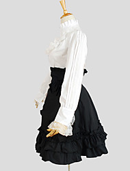 cheap -Classic Lolita Dress Princess Women's Outfits Cosplay Black Long Sleeves Knee Length