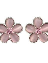Boucle Boucles d'oreille goujon Bijoux Femme Soirée Alliage 1 paire Rose Bonbon
