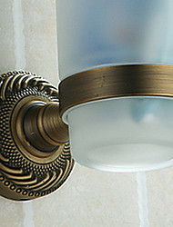povoljno -Držač četkica za zube / Vintage nikl Aluminijum /Starinski