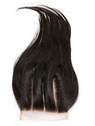Недорогие -Естественные прямые Классика Прямой силуэт Натуральные волосы Бесплатный Часть Средняя часть 3 Часть Высокое качество Повседневные