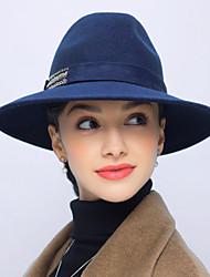 billige -Dame Vintage Afslappet Bøllehat - Uld Ensfarvet
