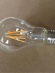 economico -1pc 500-550 lm E26/E27 Lampadine LED a incandescenza A60(A19) 6 leds COB Decorativo Bianco caldo Luce fredda CA 220-240 V