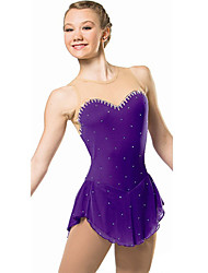 Figure Skating Dress Women's Girls' Ice Skating Dress Anatomic Design Comfortable Sleeveless Performance Practise Leisure Sports Skating