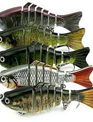 Недорогие -1 штук Жесткая наживка Рыболовная приманка Жесткая наживка г / Унция мм дюймовый, Жесткие пластиковые Морское рыболовство Пресноводная