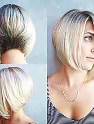 billige -Syntetiske parykker Bølget Blond Syntetisk hår Ombre-hår / Afro-amerikansk paryk Blond Paryk Dame Lågløs / Ja