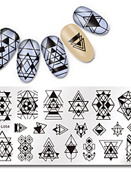 cheap -1pcs Stamping Plate Fashion Daily