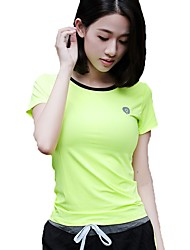 cheap -Women's Crew Neck Running Shirt Sports Tee / T-shirt / Top Yoga, Fitness, Gym Short Sleeve Activewear Quick Dry, Breathable
