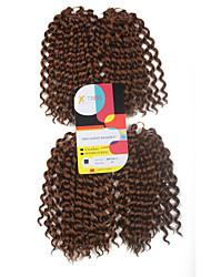abordables -Pré-boucle Tresses crochet Extensions de cheveux 9Inch Kanekalon 1 Package For Full Head Brin 170g gramme Braids Hair
