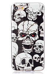 economico -Custodia Per Apple iPhone X iPhone 8 Plus iPhone 7 iPhone 6 Custodia iPhone 5 Fosforescente IMD Custodia posteriore Teschi Morbido TPU per