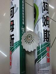 12 × 2 Badminton Volani di piume Basso spostamento d'aria Alta resistenza Elevata elasticità Duraturo per Piume d'oca
