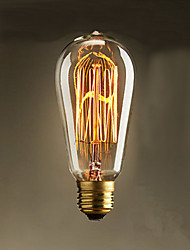 cheap -40W ST58 Edison Incandescent Light Bulbs 19 E27 Silk Vertical Wire Retro Decorative Light Bulbs