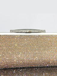 жен. Мешки Все сезоны Яловка Вечерняя сумочка Crystal / Rhinestone для Свадьба Для праздника / вечеринки Официальные Золотой Черный