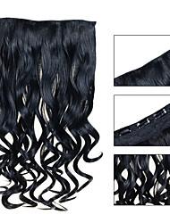 baratos -5 clips ondulado jet preto (# 1) grampo de cabelo sintético em extensões de cabelo para senhoras mais cores disponíveis
