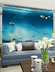 JAMMORY Art Deco Wallpaper Contemporary Wall CoveringCanvas Stereoscopic Large Mural Deep Sea Beautiful LandscapeXL XXL XXXL