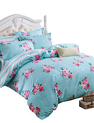 cheap -Mingjie Wonderful Blue Flowers Bedding Sets 4PCS for Twin Full Queen King Size from China Contian 1 Duvet Cover 1 Flatsheet 2 Pillowcases