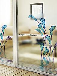 Недорогие -Оконная пленка и наклейки Украшение Современный Цветочный принт ПВХ / винил Стикер на окна