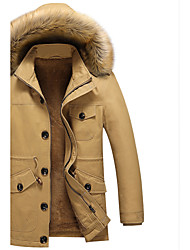 Men's Daily Simple Casual Winter Fall Coat,Solid Hooded Long Sleeve Regular