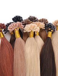 u-ponta extensões de cabelo várias cores brasileiras kertain prebonded extensão do cabelo humano 16-24 polegadas