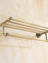 cheap -Bathroom Shelf Antique Brass 1 pc - Hotel bath Double
