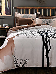 Tree Deer print bedding set thick sanding cotton Bedlinen Queen/King size winter Duvet cover set