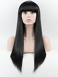 cheap -the latest wig ms long straight qi liu black high temperature wire wig