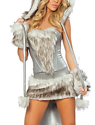cheap -Gray Snowwolf Sexy Women's Animal Costume