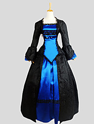 cheap -Gothic Lolita Dress Victorian Women's Outfits Cosplay Long Sleeves Asymmetrical