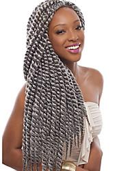 """preiswerte -Twist Braids Haarzöpfe Havanna 40cm 45cm 51cm 56cm 24 """" 100 % Kanekalon-Haar Medium Auburn Lila Burgund Blau Mittelbraun Geflochtenes Haar"""