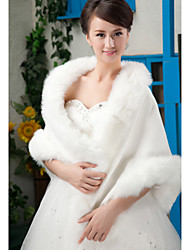 cheap -Sleeveless Faux Fur Wedding Party Evening Wedding  Wraps Fur Wraps Shawls
